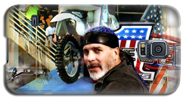 Knievel American Tradition   Robbie Knievel Galaxy S5 Case by Iconic Images Art Gallery David Pucciarelli