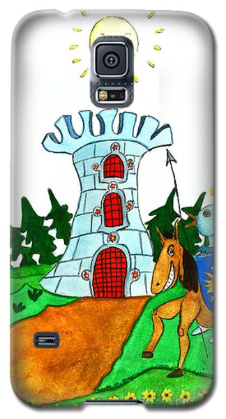 Brave Knight-errant And His Funny Wise Horse Galaxy S5 Case