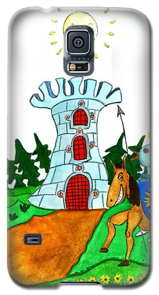 Brave Knight-errant And His Funny Wise Horse Galaxy S5 Case by Don Pedro De Gracia