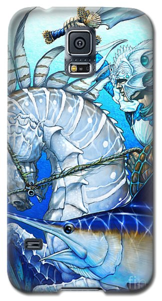 Galaxy S5 Case featuring the digital art Knight Of Swords by Stanley Morrison