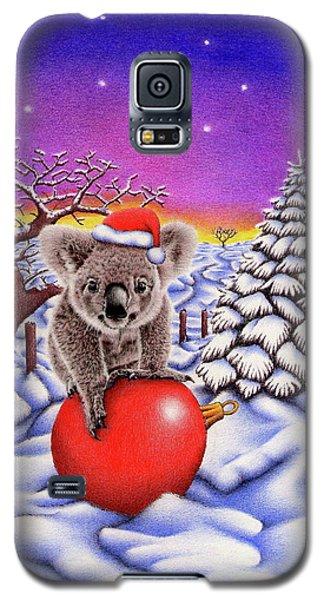 Koala On Christmas Ball Galaxy S5 Case by Remrov