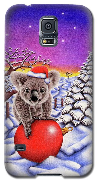 Koala On Christmas Ball Galaxy S5 Case by Remrov