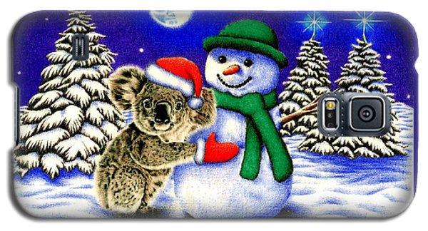 Koala With Snowman Galaxy S5 Case