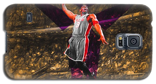 Kobe Bryant Black Mamba Digital Painting Galaxy S5 Case by David Haskett