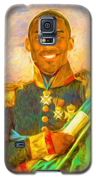 Kobe Bryant Floor General Digital Painting La Lakers Galaxy S5 Case by David Haskett