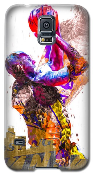 Kobe Bryant Los Angeles Lakers Digital Painting Snake 1 Galaxy S5 Case by David Haskett