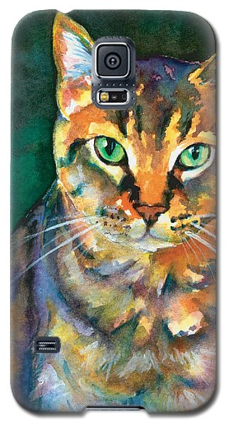 Galaxy S5 Case featuring the painting Kodi by Christy Freeman