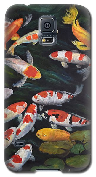 Koi Among The Lily Pads II Galaxy S5 Case by Sandra Nardone