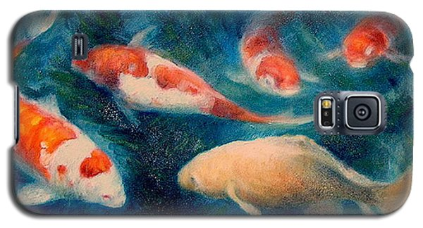 Galaxy S5 Case featuring the painting Koi Ballet 2 by Donelli  DiMaria