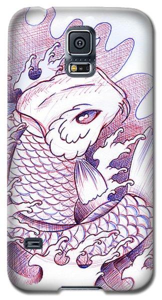 Koi Galaxy S5 Case - Koi Carp Tattoo Art by Samuel Whitton
