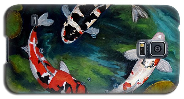 Galaxy S5 Case featuring the painting Koi Dance by Sandra Nardone