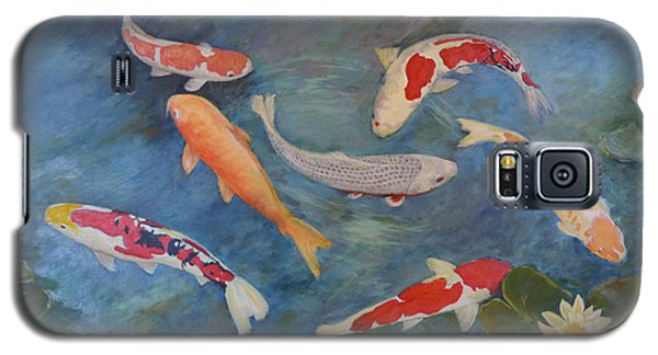 Galaxy S5 Case featuring the painting Koi Iv by Sandra Nardone