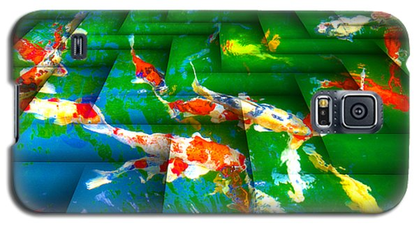 Galaxy S5 Case featuring the digital art Koi Mosaic I by Manny Lorenzo
