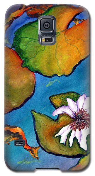 Galaxy S5 Case featuring the painting Koi Pond II Sold by Lil Taylor