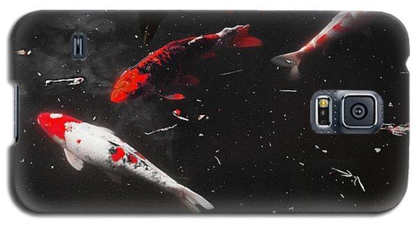 Galaxy S5 Case featuring the photograph Koi Trio 1 by Deborah  Crew-Johnson