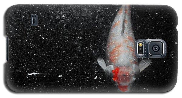 Galaxy S5 Case featuring the photograph Koi Approach by Deborah  Crew-Johnson
