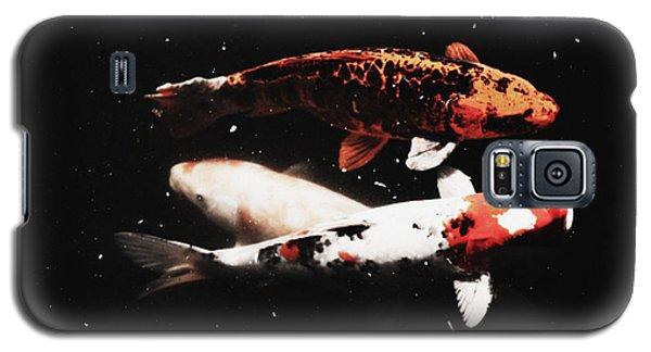 Galaxy S5 Case featuring the photograph Koi Trio  by Deborah  Crew-Johnson