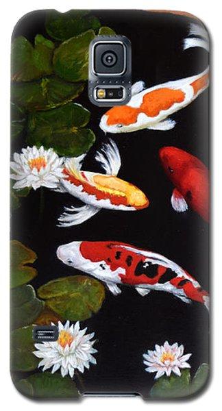 Galaxy S5 Case featuring the painting Koi V by Sandra Nardone
