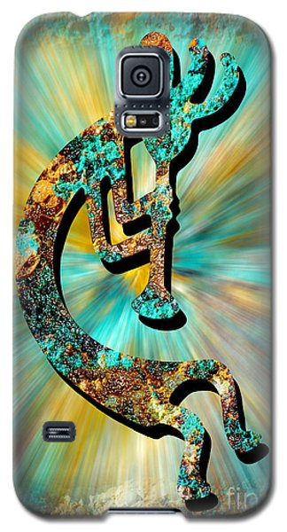 Kokopelli Turquoise And Gold Galaxy S5 Case