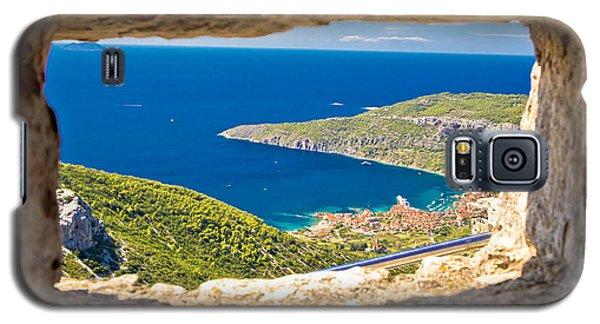 Komiza Bay Aerial View Through Stone Window Galaxy S5 Case