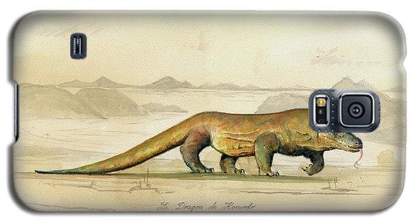 Dragon Galaxy S5 Case - Komodo Dragon by Juan Bosco