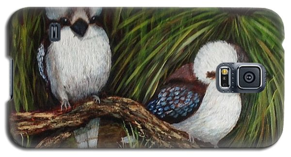 Galaxy S5 Case featuring the painting Kookaburras by Renate Voigt