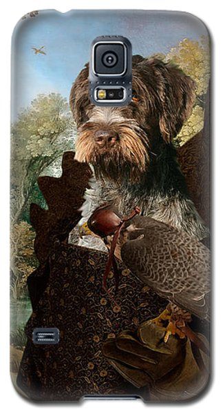 Korthals Pointing Griffon Art Canvas Print - The Hunters And Lady Falconer Galaxy S5 Case