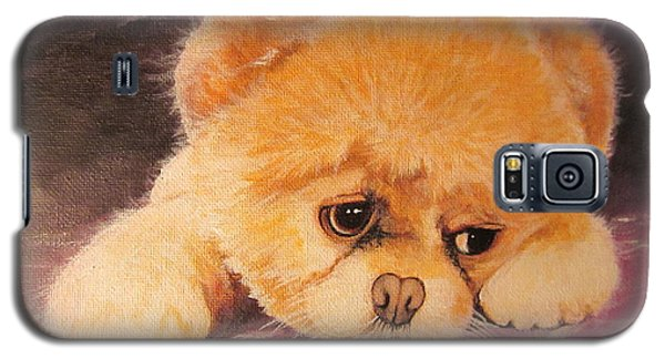 Galaxy S5 Case featuring the painting Koty The Puppy by Sigrid Tune