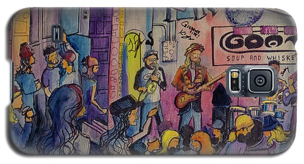 Galaxy S5 Case featuring the painting Kris Lager Band At The Goat by David Sockrider