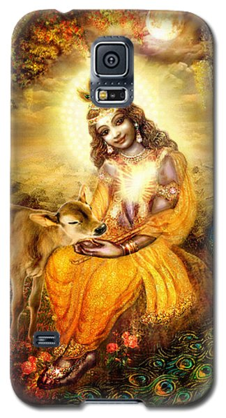 Krishna With The Calf Galaxy S5 Case by Ananda Vdovic