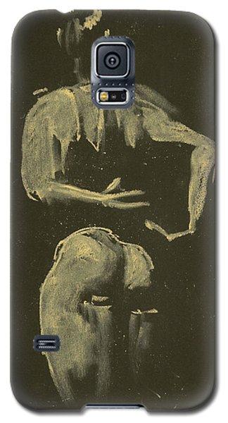 kroki 2014 09 27_4 figure drawing white chalk Marica Ohlsson Galaxy S5 Case