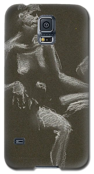 Kroki 2015 04 25 _3 Figure Drawing White Chalk Beskuren Galaxy S5 Case