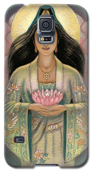 Kuan Yin Pink Lotus Heart Galaxy S5 Case by Sue Halstenberg