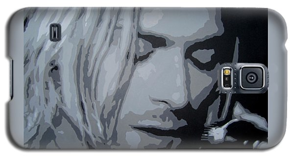 Galaxy S5 Case featuring the painting Kurt Cobain by Ashley Price