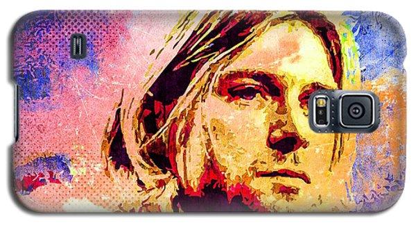 Galaxy S5 Case featuring the mixed media Kurt Cobain by Svelby Art