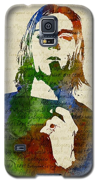 Kurt Cobain Watercolor Galaxy S5 Case
