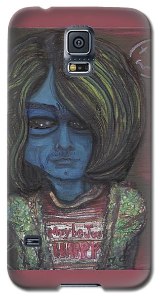 Galaxy S5 Case featuring the painting Kurt Cobalien by Similar Alien