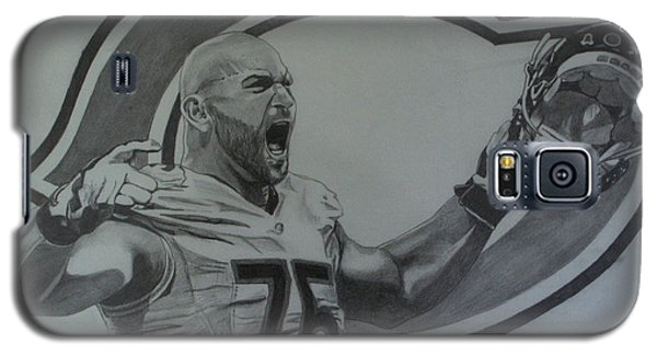 Galaxy S5 Case featuring the drawing Kyle Long Portrait by Melissa Goodrich