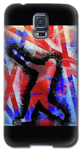 Galaxy S5 Case featuring the painting Kyle Schwarber - #letsgo by Melissa Goodrich