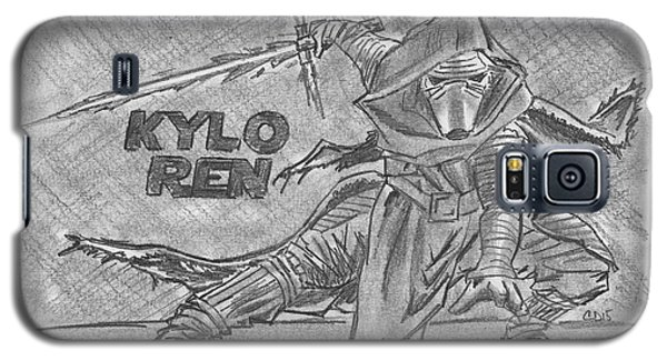 Galaxy S5 Case featuring the drawing Kylo Ren The Force Awakens by Chris DelVecchio