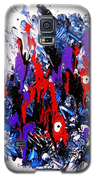 Galaxy S5 Case featuring the painting Kyodai Ika No Hokaku by Roberto Prusso