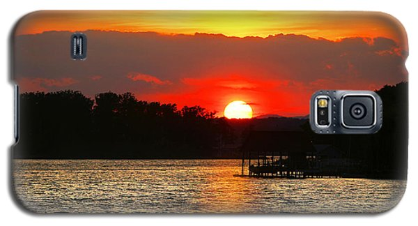Bloody Red Sunset Smith Mountain Lake Galaxy S5 Case