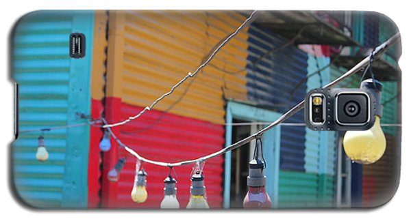 Galaxy S5 Case featuring the photograph La Boca Lightbulbs by Wilko Van de Kamp