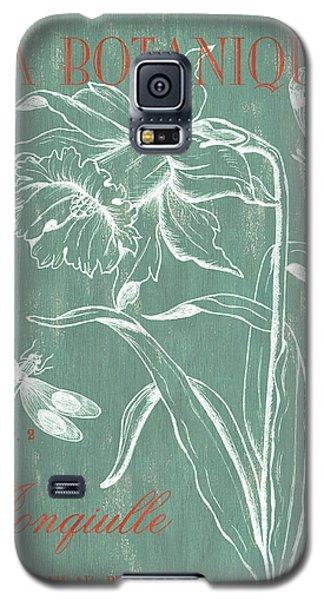 Dragon Galaxy S5 Case - La Botanique Aqua by Debbie DeWitt