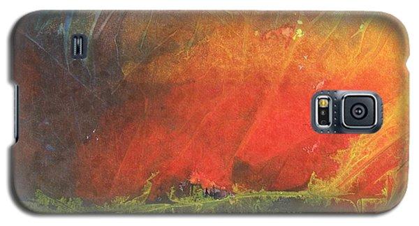 Galaxy S5 Case featuring the painting La Caleta Del Diablo by Jackie Mueller-Jones
