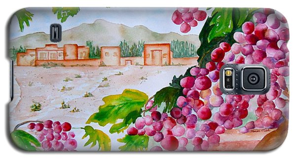 Galaxy S5 Case featuring the painting La Casa Del Vino by Sharon Mick