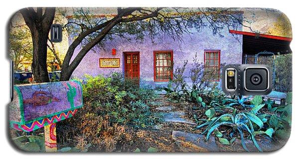 Galaxy S5 Case featuring the photograph La Casa Lila by Barbara Manis