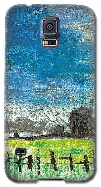Galaxy S5 Case featuring the painting La Crau by Martin Stankewitz