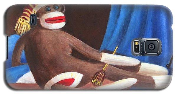 La Grande Sock Monkey Galaxy S5 Case by Randy Burns