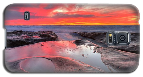 Galaxy S5 Case featuring the photograph La Jolla Tidepools At Sunset by Nathan Rupert